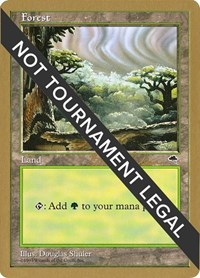 Forest (Cloudy) - 1998 Brian Selden (TMP), Magic: The Gathering, World Championship Decks