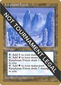 Karplusan Forest - 1998 Brian Selden (ICE), Magic: The Gathering, World Championship Decks