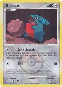 Gible - 106/147 (Championship Promo) [Staff], Pokemon, League & Championship Cards