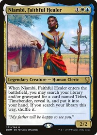 Niambi, Faithful Healer, Magic, Dominaria
