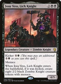 Josu Vess, Lich Knight, Magic: The Gathering, Dominaria