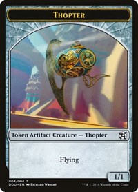 Thopter Token (004), Magic, Duel Decks: Elves vs. Inventors