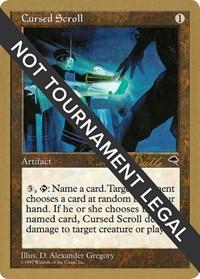 Cursed Scroll - 1999 Kai Budde (TMP), Magic: The Gathering, World Championship Decks