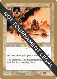 Absolute Law - 2000 Nicolas Labarre (USG) (SB), Magic: The Gathering, World Championship Decks