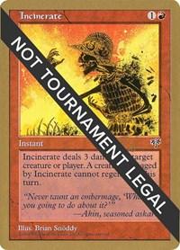 Incinerate - 1998 Ben Rubin (MIR), Magic: The Gathering, World Championship Decks