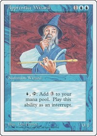 Apprentice Wizard, Magic: The Gathering, Fourth Edition