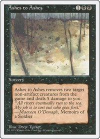 Ashes to Ashes, Magic: The Gathering, Fourth Edition
