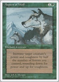 Aspect of Wolf, Magic: The Gathering, Fourth Edition