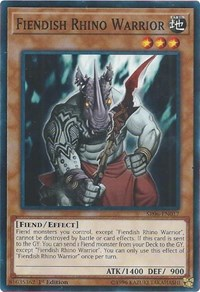 Fiendish Rhino Warrior, YuGiOh, Structure Deck: Lair of Darkness
