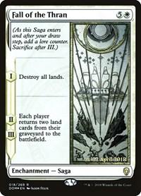 Fall of the Thran, Magic, Prerelease Cards