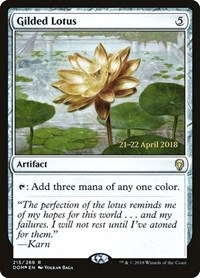 Gilded Lotus, Magic: The Gathering, Prerelease Cards
