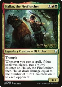 Hallar, the Firefletcher, Magic: The Gathering, Prerelease Cards