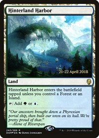 Hinterland Harbor, Magic: The Gathering, Prerelease Cards