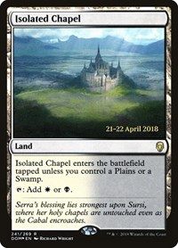 Isolated Chapel, Magic, Prerelease Cards
