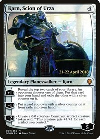 Karn, Scion of Urza, Magic: The Gathering, Prerelease Cards