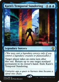 Karn's Temporal Sundering, Magic: The Gathering, Prerelease Cards