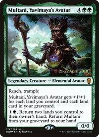Multani, Yavimaya's Avatar, Magic: The Gathering, Prerelease Cards