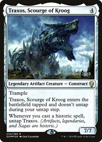 Traxos, Scourge of Kroog, Magic: The Gathering, Prerelease Cards
