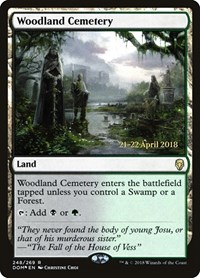 Woodland Cemetery, Magic, Prerelease Cards