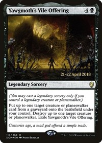 Yawgmoth's Vile Offering, Magic: The Gathering, Prerelease Cards