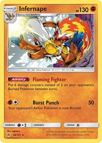 Infernape, Pokemon, SM - Forbidden Light