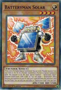 Batteryman Solar, YuGiOh, Flames of Destruction