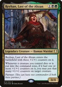 Reyhan, Last of the Abzan, Magic: The Gathering, Commander Anthology Volume II
