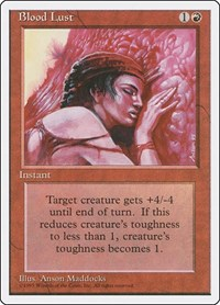 Blood Lust, Magic: The Gathering, Fourth Edition