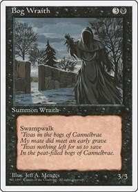 Bog Wraith, Magic: The Gathering, Fourth Edition