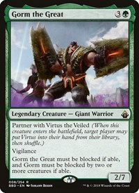 Gorm the Great, Magic: The Gathering, Battlebond