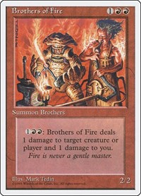 Brothers of Fire, Magic: The Gathering, Fourth Edition