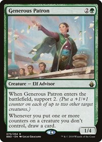 Generous Patron, Magic: The Gathering, Battlebond