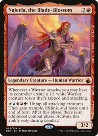 Najeela, the Blade-Blossom, Magic: The Gathering, Battlebond