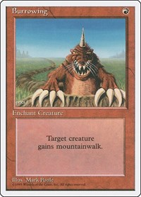 Burrowing, Magic: The Gathering, Fourth Edition