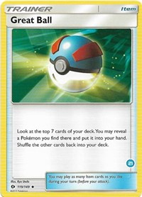 Great Ball (#21, Alolan Ninetales Half-Deck), Pokemon, SM Trainer Kit: Alolan Sandslash & Alolan Ninetales