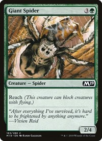 Giant Spider, Magic: The Gathering, Core Set 2019