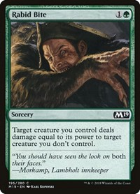 Rabid Bite, Magic, Core Set 2019