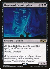 Demon of Catastrophes, Magic: The Gathering, Core Set 2019