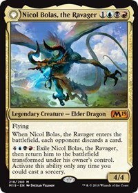 Nicol Bolas, the Ravager // Nicol Bolas, the Arisen, Magic, Core Set 2019