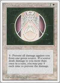 Circle of Protection: Green, Magic: The Gathering, Fourth Edition