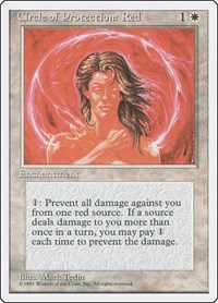 Circle of Protection: Red, Magic: The Gathering, Fourth Edition