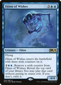 Djinn of Wishes, Magic: The Gathering, Core Set 2019