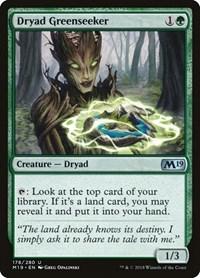Dryad Greenseeker, Magic, Core Set 2019