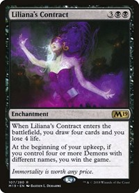 Liliana's Contract, Magic: The Gathering, Core Set 2019