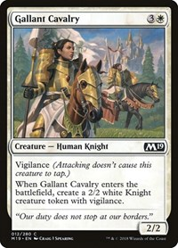 Gallant Cavalry, Magic: The Gathering, Core Set 2019