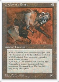 Clockwork Beast, Magic: The Gathering, Fourth Edition