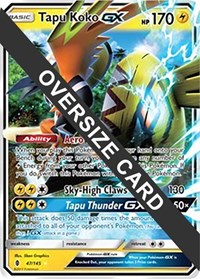 Tapu Koko GX - 47 (Guardians Rising), Pokemon, Jumbo Cards