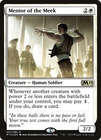 Mentor of the Meek, Magic, Prerelease Cards