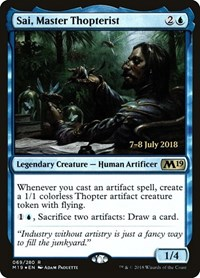 Sai, Master Thopterist, Magic: The Gathering, Prerelease Cards