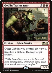Goblin Trashmaster, Magic, Prerelease Cards